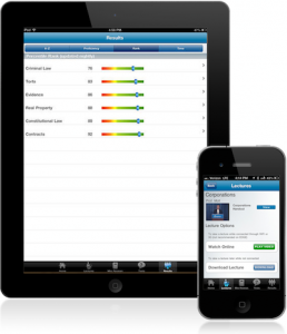 BARBRI legal studies app on iPad on iPhone