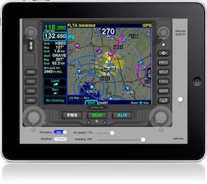 Avidyne IFD Am flight simulator port to iPad